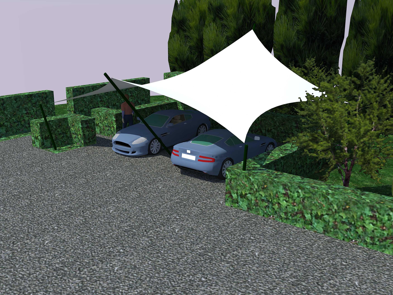 Texstyleroofs® overkapping met zeil doek als design carport