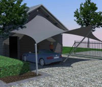 3D carport overkapping - Texstyleroofs