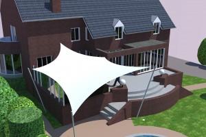 3D design overkapping van Texstyleroofs