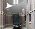 Design overkapping van zeil doek als design carport - Texstyleroofs