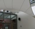 Design overkapping met zeildoek als rokersruimte - Texstyleroofs