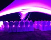 Vrijstaande design overkapping verlichting - Texstyleroofs