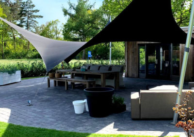 Zonwerende terrasoverkapping op maat