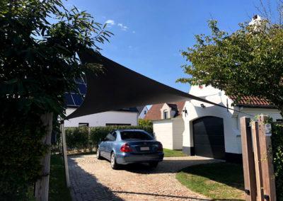 Vergunningsvrije carport – Knokke (BE)