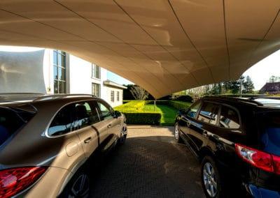Carport overkapping van zeildoek - voor meerdere auto's