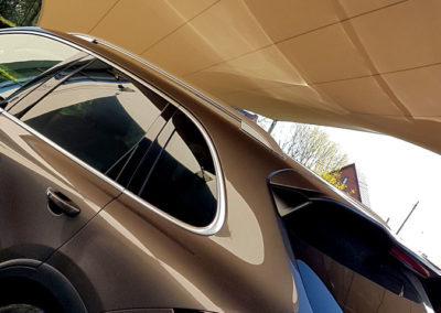 Carport overkapping van zeildoek - bescherm uw auto in stijl