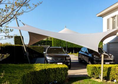Carport overkapping van zeildoek - Dutch Design