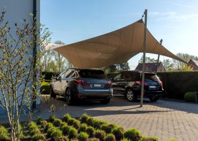 Carport overkapping van zeildoek - bescherming