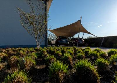 Carport overkapping van zeildoek - architectonisch