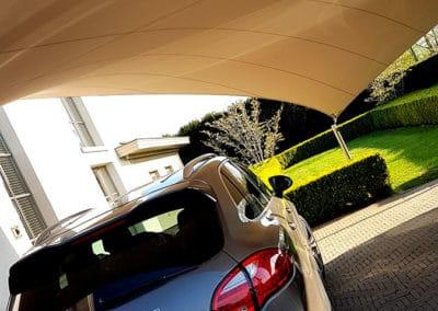 Carport overkapping van zeildoek - stijlvol en luxe