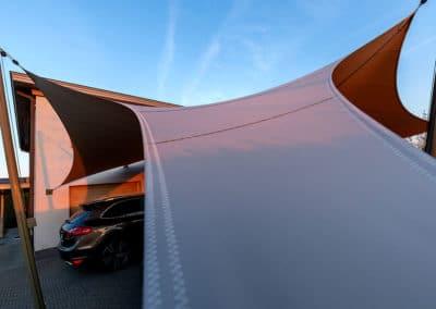 Carport overkapping van zeildoek - waterdicht en stormvast