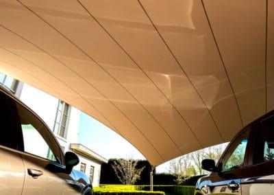 Carport overkapping van zeildoek - op maat ontworpen