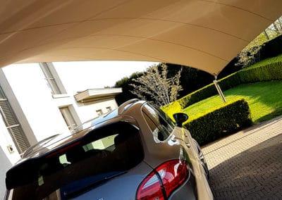 Carport overkapping van zeildoek - vergunningsvrij