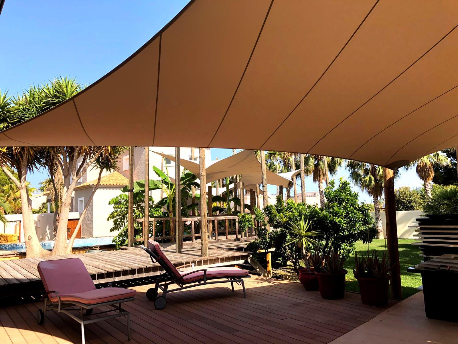 Design overkapping van zeildoek - het ultieme vakantiegevoel