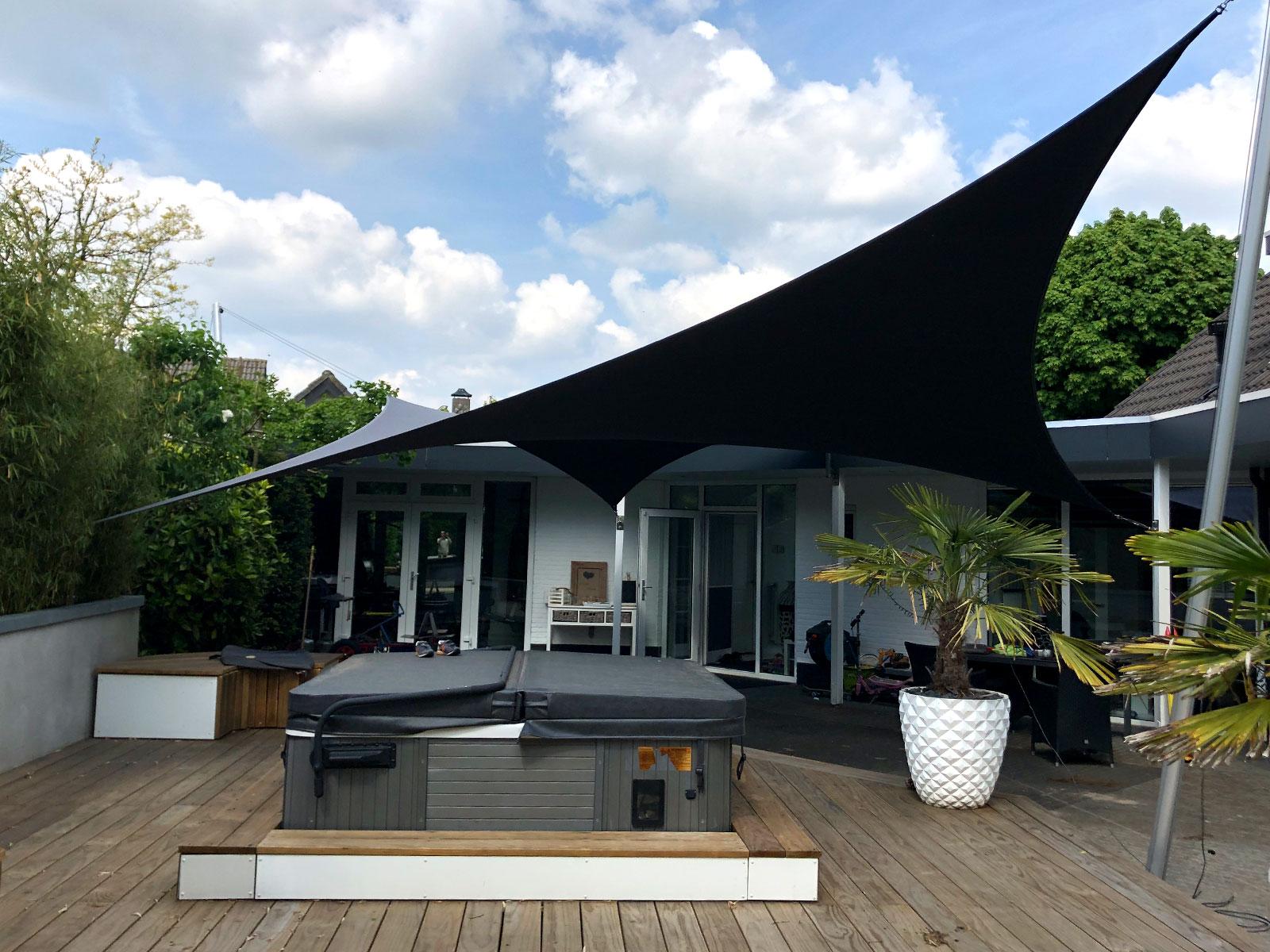 Design overkapping van zeildoek - meer dan een feesttent