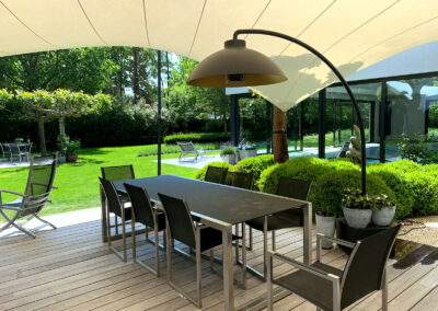Vakantie gevoel met een terrasoverkapping van Texstyleroofs (Belgie)
