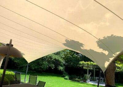 3D ontworpen terrasoverkapping van zeildoek