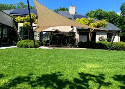 Het vakantiegevoel in huis met een vergunningsvrije terras overkapping van Texstyleroofs